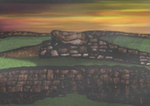 "Erehwon - Giclee on canvas 16"" x 20"""