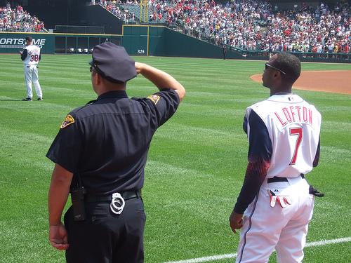Kenny Lofton - Kenny Lofton, left fielder for the Cleveland Indians