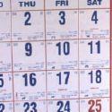 A talking calender? - calendar of the week