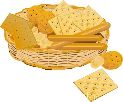 Crackers - Basket full of crackers