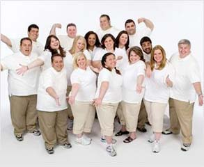 The Biggest Loser team - The Biggest Loser team on the first day at the camp