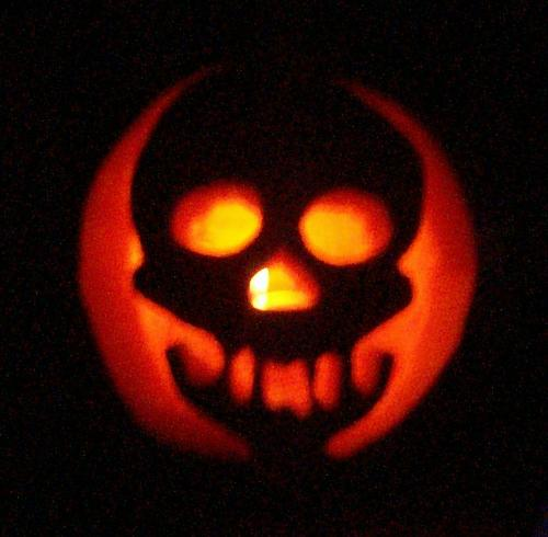Skeleton - This is one of the pumpkins we carved.