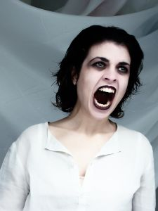 screaming at the top of her lungs - A woman screaming