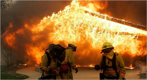Photo from San Diego fires - image of fires in California