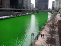 Chicago River - Chicago River Dyed green for St Patricks Day