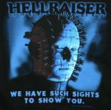 Can you guess what movie I watched? lol...and embe - hellraiser movie poster