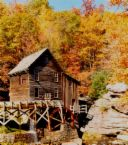 mill in WV - A scenic view of an old mill in the hills of West Virginia