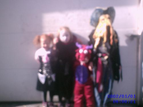 My kids in costume getting ready for the Halloween - My kids in costume getting ready for the Halloween Parade.