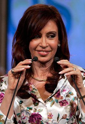 Christina Fernandez-Incharge of Argentina - She beat men hands down