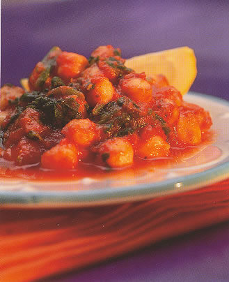 Chickpeas/Garbanzo Beans - I would love to find a recipe for the dish I've described. I am not much ons for chickpeas, lentils or beans, but loved this dish. I hope someone can help!