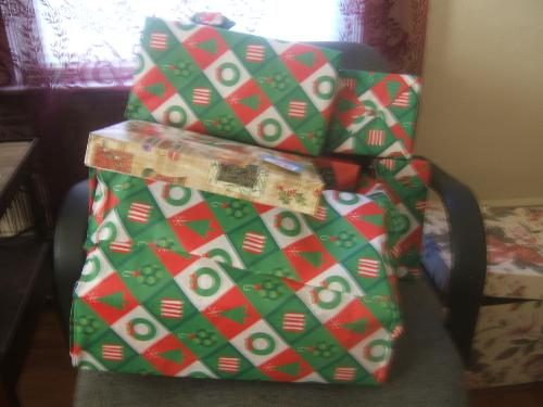 My wrapped Christmas gifts! - wrapped Christmas gifts
