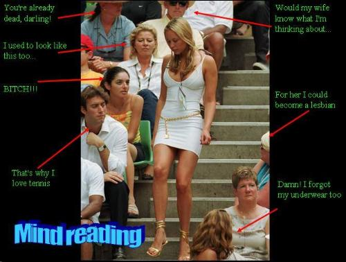 tennis player - this photo shows how people think