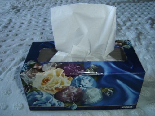 Kleenex - Blue kleenex, awww my favorite color.