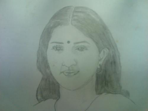 woman - my pencil drawing..liked it???