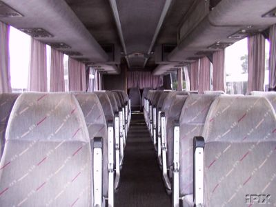 bus seats - This photo shows bus seats.