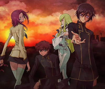 Code Geass Lelouch of the Rebellion - Image with the main characters of Code Geass