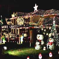 Christmas Lights - This is something like our house.