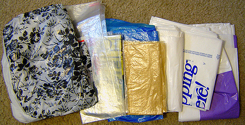 Plastic bags - This picture shows plastic covers that are disposable