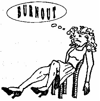 burnout - An exhausted person