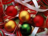christmas balls - Coloured Christmas balls