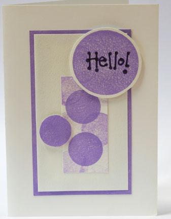 hello - saying hello in an e-card