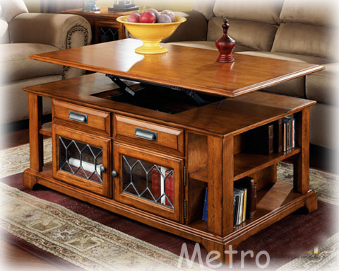 Superb Solid Wood Lift Up Top Coffee Table With Door Shel   The Functional  Coastered Cocktail Table