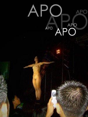 apo - apo member doing the oblation pose