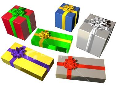 Six Christmas Prestents - Christmas presents