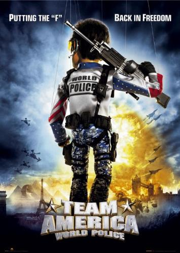 """Team America Poster - A promotional poster for the 2004 movie """"Team America"""""""