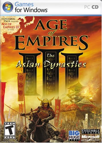 Age of Empires 3: The Asian Dynasties - Front cover of the Asian Dynasties expansion set of Age of Empires 3