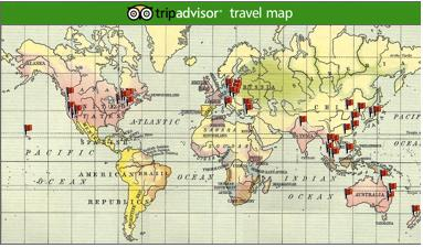 Travel Map - Places I've set foot on. Visit www.fo-toes.blogspot.com for more pictures!