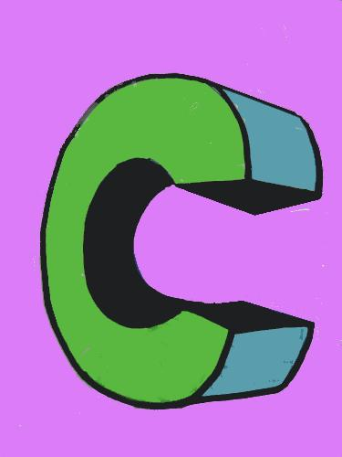"A ""C"" I Drew - I'll add this drawing, too, just to try to make my discussion less boring."