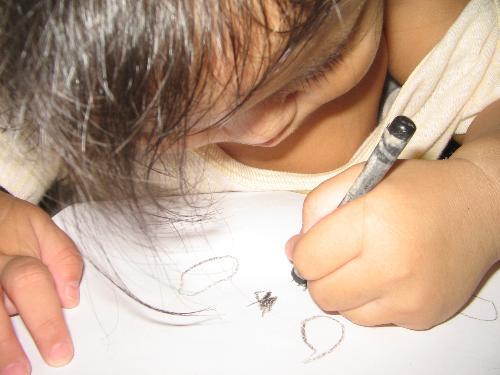 tintin - tintin up close, writing