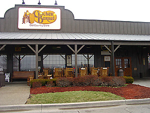 Cracker Barrel Old Country Store - a photo of one of the companies I work for