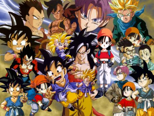 DragonballGT cast.... - this pic shows the main cast of Dragonball GT anime TV show....