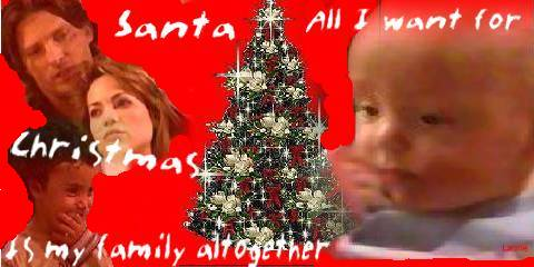 Jakes's first Christmas banner - All Jake wants for Christmas is his REAL family together