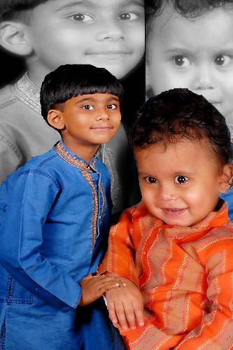 My sons - Pranavswaroop and Omkar