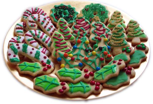 Christmas Cookies - These cookies are not a picture of our cookies but they look good!
