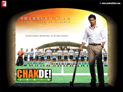 Chak De - Chak De is one of the best of SRKs'. I was very much frustrated when I saw the first half-an-hour of the film but after that it was very much interesting.