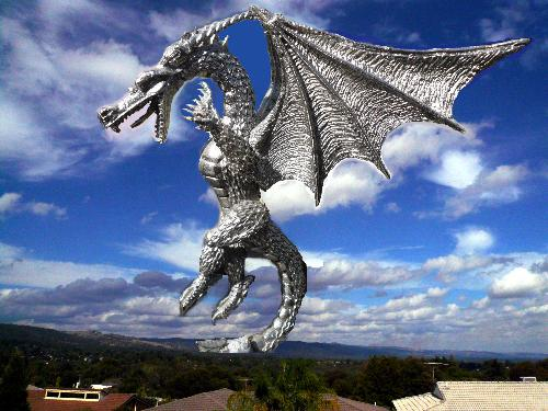 Dragon - A dragon image superimposed above my home