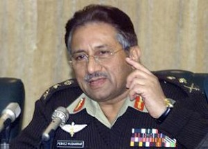 musharaf - a picture of musharaf, president of pakistan, speaking to the reporters. in this picture, he is wearing an army suit. last month, he quit as the army chief of pakistan.