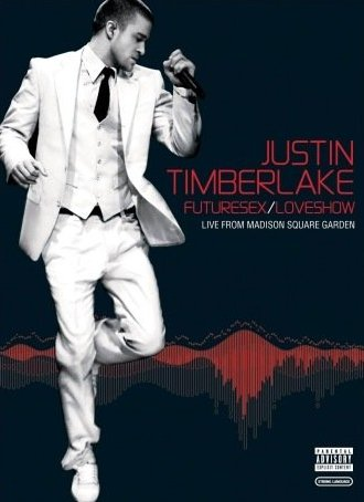 """Live DVD cover - The covet for """"FutureSex / LoveShow from Madison Square Garden"""" DVD"""