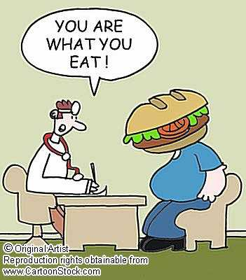 Bad Diets Unhealthy Foods - This is an image which portrays you are what you eat.