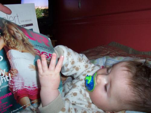 Baby Jay - Watching TV and reading Glamour...