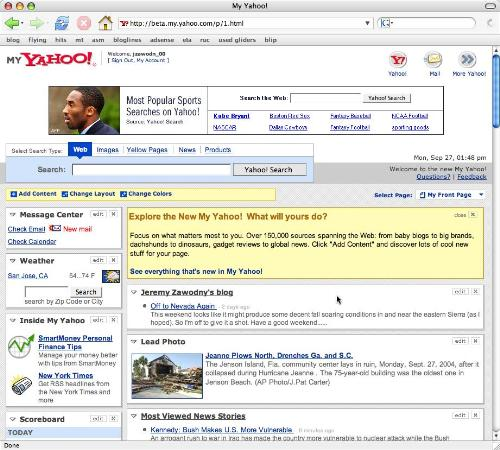 Yahoo! - This is an image demonstration when surfing the net on Yahoo.
