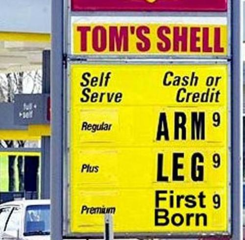 Expensive Gas Prices - This is an example of how ridiculous gas prices have increased.