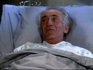 Screencap taken by me on Jan. 14 of GH's AZ - picture of 'crazy' Anthony Zacharra' who is not that crazy, actually talking to Jason from his prison hospital bed.