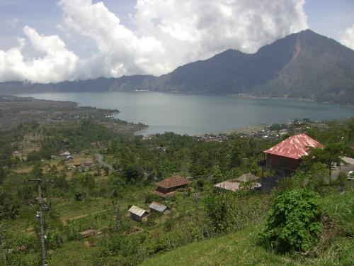 batur lake and mountain, bali - bali batur lake and mountain
