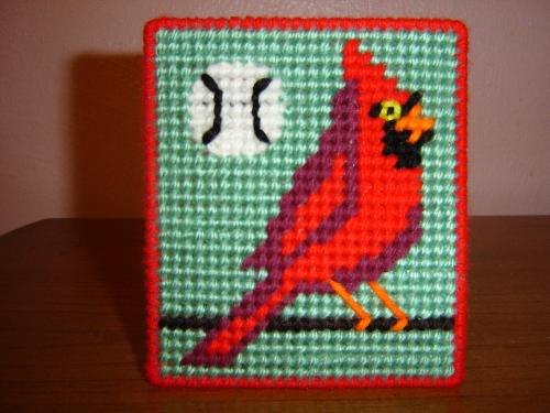 Cardinal Baseball Coasters - My design and pattern for coasters.