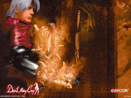 Dante with Ifrit Gloves - Dante, the half demon, half human demon slayer wielding the powerful Ifrit gloves.